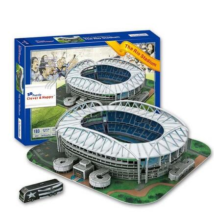 Candice guo 3D puzzle DIY toy paper building model Sport Estadio Rio Stadium Brazil football soccer assemble game baby gift 1set стоимость