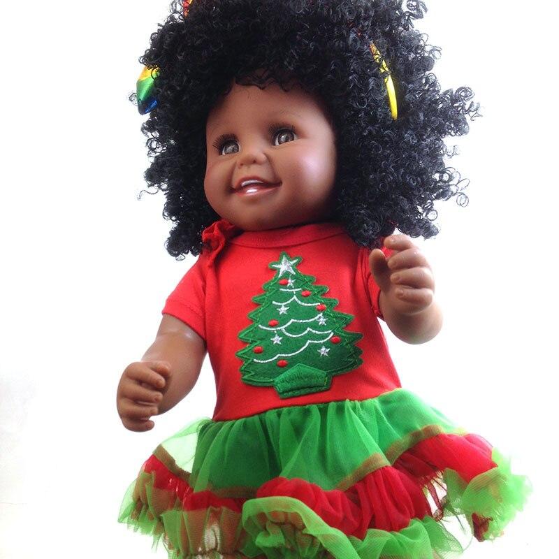 Reborn bébé poupées peau noire afro-américaine bébé fille poupée jouets pour enfant playmate bebe vinyle reborn bonecas silicone 45 cm