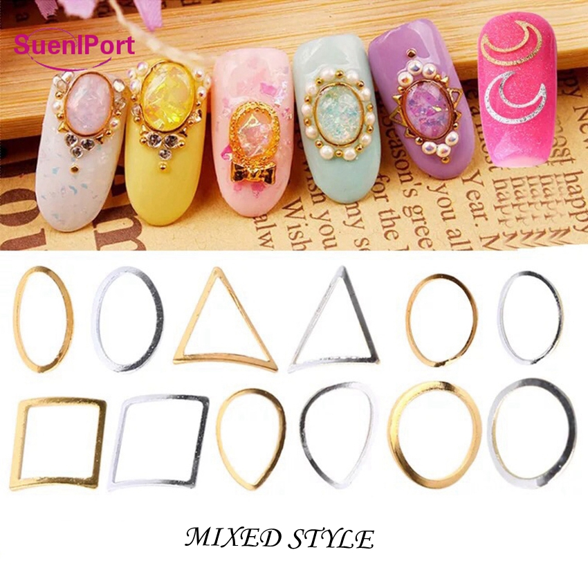 SunelPort Hollow Metal Nail Art Accessories Christmas Nail