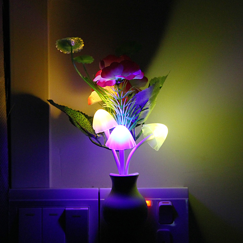 Sensor Night Light Plum Blossom Flower LED font b Lamp b font US Plug 220V Romantic