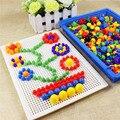 Lleno-Box 296 Grano Granos de Uñas Hongo Inteligente 3D Juegos de Puzzle para Niños Del Bebé de Plástico Para Niños Juguetes Educativos