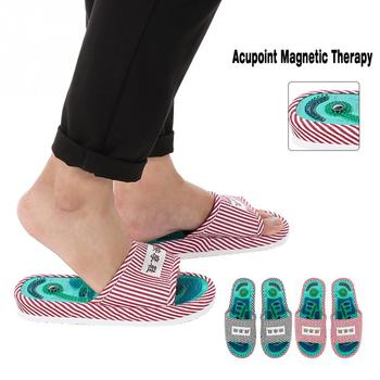 Foot Massage Acupoint Magnetic Therapy Massage Slippers Healthy Feet Care Massager Magnet Shoes Foot Acupoint Slipper цена 2017