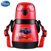 Disney 310 ML Mickey Mouse Cartoon cups With straw 304 austenitic stainless steel kids cars Mug Princess Sophia Sport Bottles