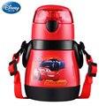 Disney 310 ml Mickey Maus Cartoon tassen Mit stroh 304 austenitischen edelstahl kinder autos Becher Prinzessin Sophia Sport Flaschen
