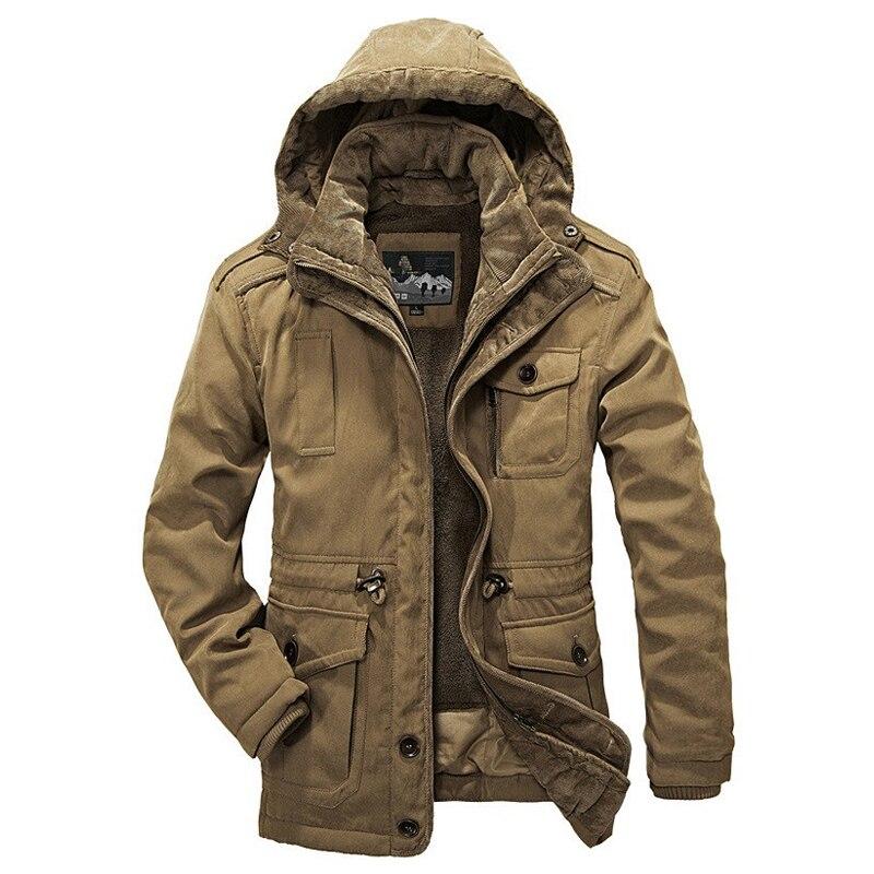 Heißer Winter Jacke Männer Verdicken Warme Minus 40 Grad Baumwolle Gefütterte Jacken männer Kapuzen Windbreaker Parka Plus größe 4XL Mäntel-in Jacken aus Herrenbekleidung bei  Gruppe 1