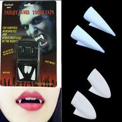 Devil Halloween Vampire Tooth Fangs Props Scary Party teeth gum C5J9 Q4G2 D N1Y3