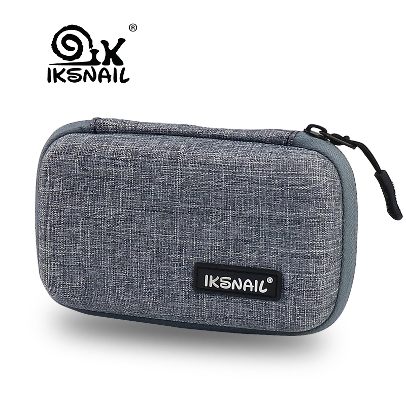 IKSNAIL Nylon Portable Earphone Accessories Carrying Bags For Airpods Bluetooth Earphone Case Earbuds Headset Headphone Storage
