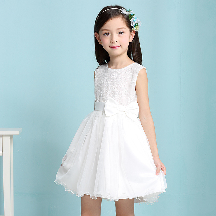 Girls Dresses Summer 2016 Children Clothes Girls Beautiful Lace Dress White Baby Girls Dress Teenager Kids