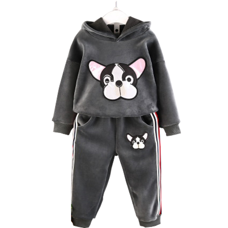 JIOROMY Baby Girls Clothes Set 2017 Winnter Winter Cashmere Animal Cartoon Sweater + Casual Pants 2pcs Kids Child Clothing Suit
