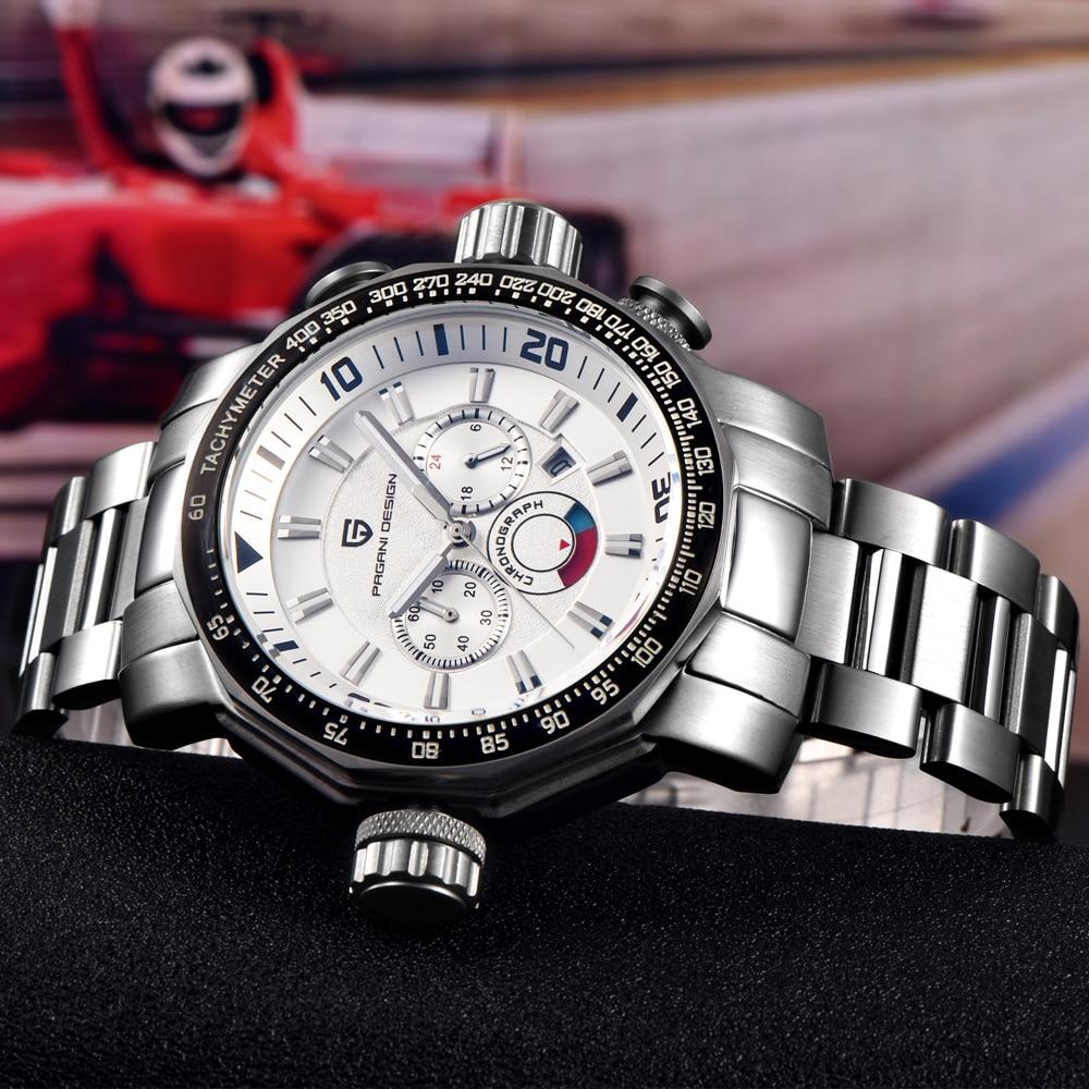 Poids de grand cadran plongée 30 m montres militaires hommes de luxe marque multifonction Sport montres Relogio Masculino Pagani Design 2703