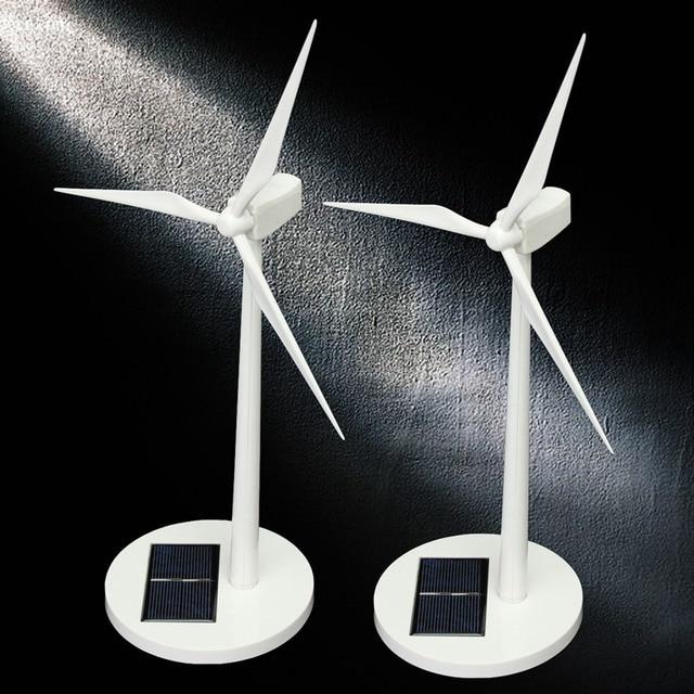 New Science Toy Desktop Model-Solar Powered Windmills/Wind Turbo Decoration Scientific Model Building Kits