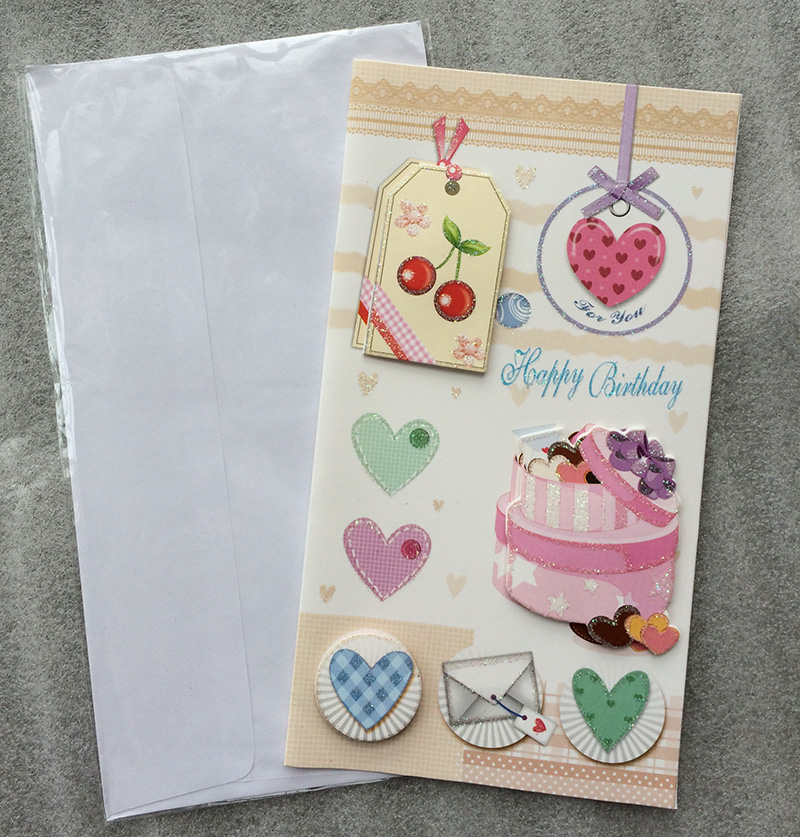 Online Shop Cake 3D stereo folding handmade birthday card greeting – Creative Birthday Card Messages