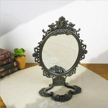 Европа 3x увеличительное винтажное туалетное зеркало напольное зеркало украшение комнаты зеркальный стол стекло зеркало для дома deocoration J060