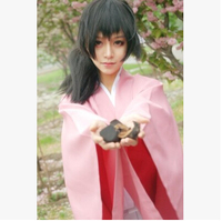 New Anime Hakuouki Cos Yukimura Jiziru Cosplay Halloween Daily Kimono Suit Full Set 3in1(Top+Pants+Belt)