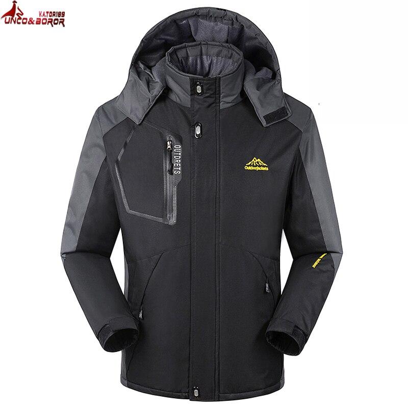 Men's Clothing Hot Sale Plus Size 8xl 6xl 5xl 4xl Fall Autumn Jacket Men 2 In 1 Set Parka Jacket Windproof Waterproof Hooded Overcoat Casual Male Jacket Jackets