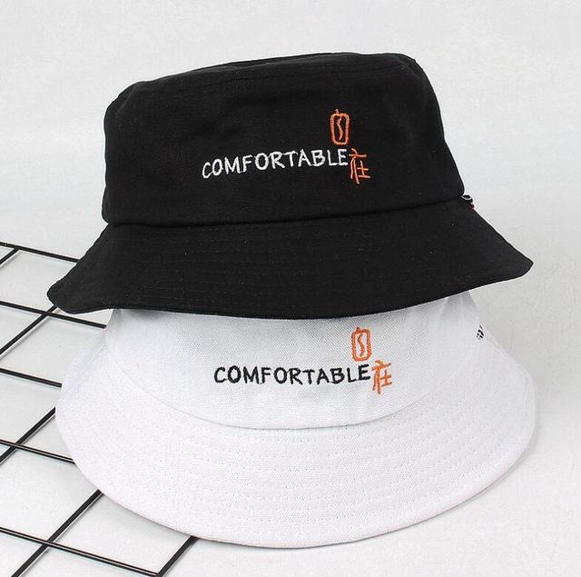 d8a453b6965 2018 cotton embroidery lette Bucket Hat For Woman Unisex Bob Caps Hip Hop  Gorros Men s Panama