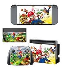 Super Mario Decal Nintendo Switch NS Console + Joy-Con Controller + Dock Station