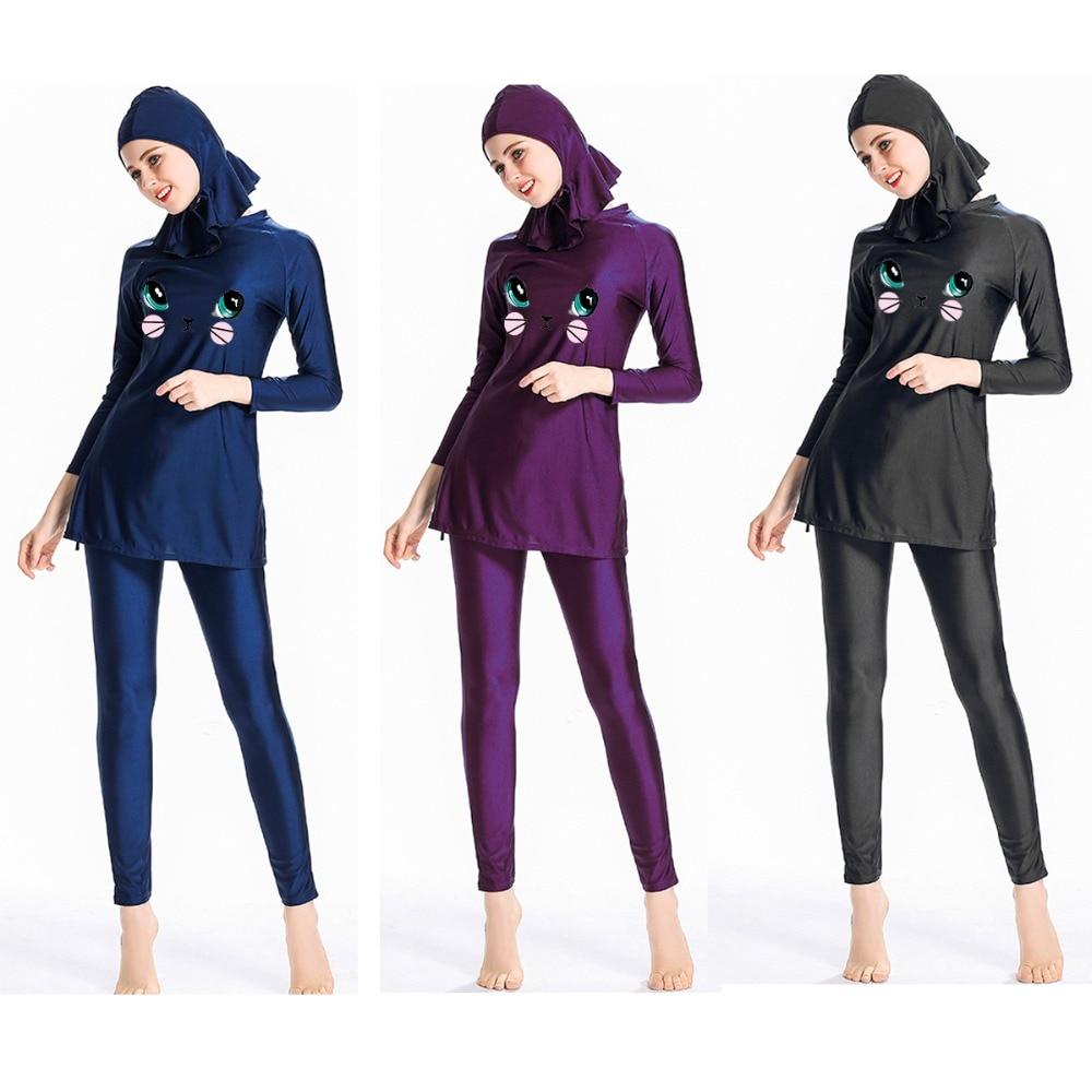 Muslimischen Bademode Volle Abdeckung Badeanzug-mädchen & Damen Konservativen Muslimischen Badeanzug-volle Länge Modest Schwimmen Beachwear Sport & Unterhaltung Muslimische Bademode