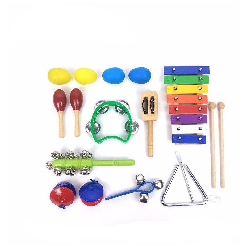 Ensembles complets d'instruments à Percussion pour enfants jouets éducatifs bébé musique illumination jouets vente de nouveau chaud