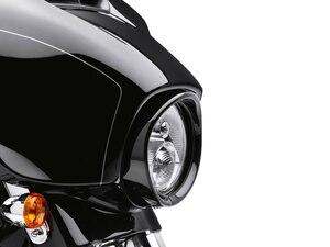 "Image 2 - For Harley Headlamp Visor Style Trim Ring For Touring Softail Original 7"" Headlight Visor Style Headlamp Trim Ring"