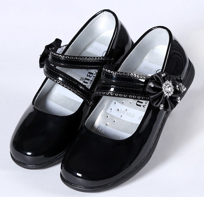 Children Dress Shoes Student Performance Stage Solid Patent Leather Mocassins Flat Footwear Girls Princess Shoes Spring Autumn