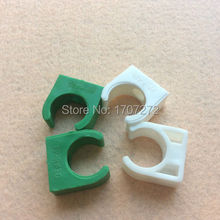 free shipping 400pcs 25mm Plastic PPR Single U Clamp Holder Hot Cold Water Pipe Tube