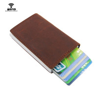 ZOVYVOLGenuine Leather MIni Card Holder Card Case Money Organizer Men Wallets Short Wallet Clutch Credit Card