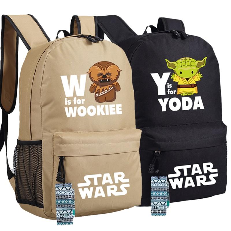 Cos Star Wars Backpack Bag Yoda & Wookiee School Shoulder Travel Students Bag Cospaly