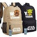 Cos Star Wars Mochila Estudiantes Bolsa de Hombro de Viaje de La Escuela Bolsa de Yoda y Wookiee Cospaly