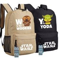Cos Star Wars Rucksack Tasche Yoda & Wookiee Schule Schulter Reise Studenten Tasche Cospaly-in Rucksäcke aus Gepäck & Taschen bei