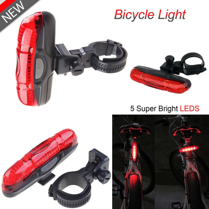 Waterproof Bike Bicycle Cycle Rear Back TAIL LIGHT LAMP 5 Super Bright LED Light