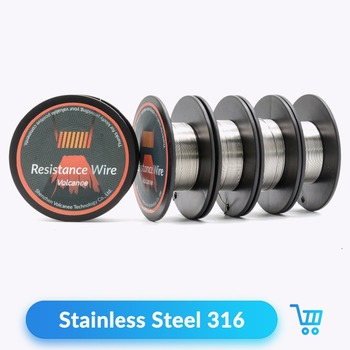 Volcanee 10m roll ss316l resistance wire rdta rba rebuildable volcanee 10m roll ss316l resistance wire rdta rba rebuildable atomizer stainless steel heating wires prebuilt coil keyboard keysfo Images