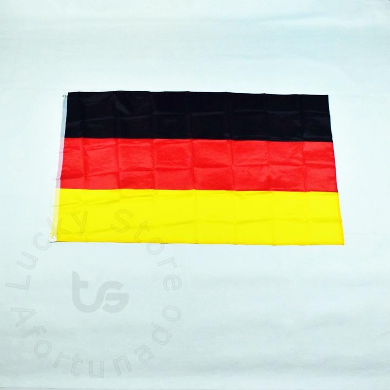 Německo 90 * 150cm vlajka Banner Doprava zdarma Závěsná národní vlajka Německo pro setkávání, Parade, party.Hanging, dekorace