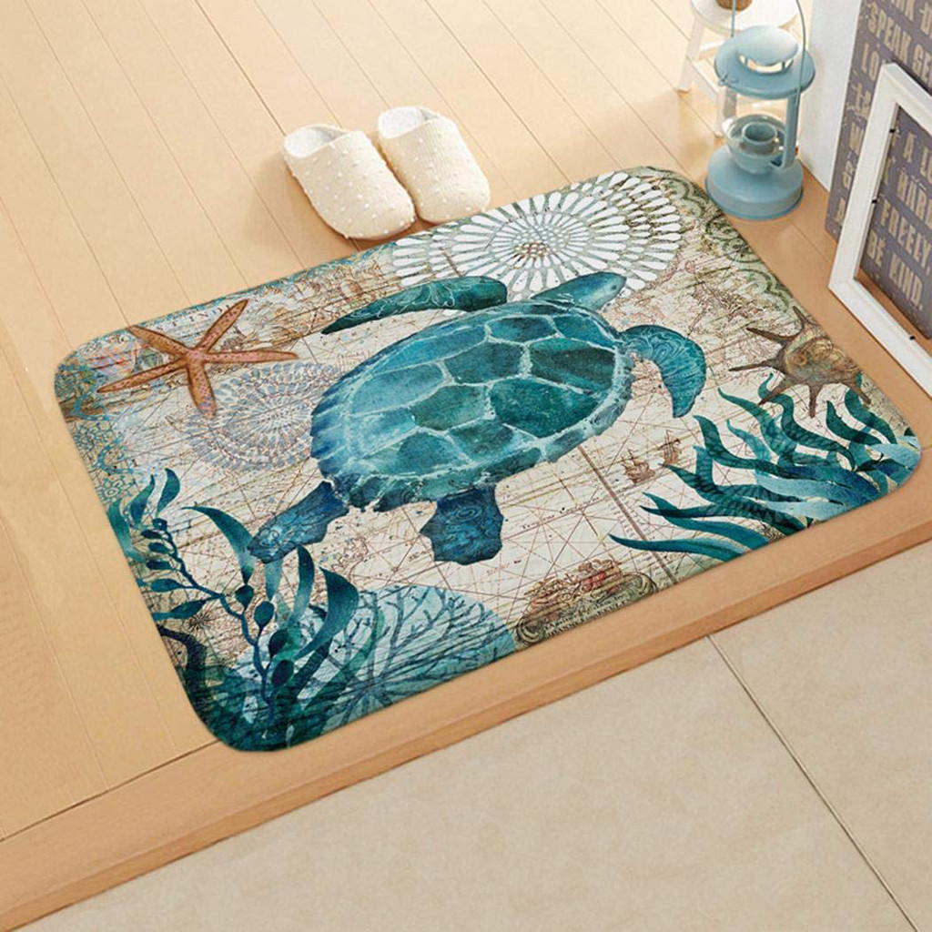 Sea Turtle Bath Mat Style Non Slip