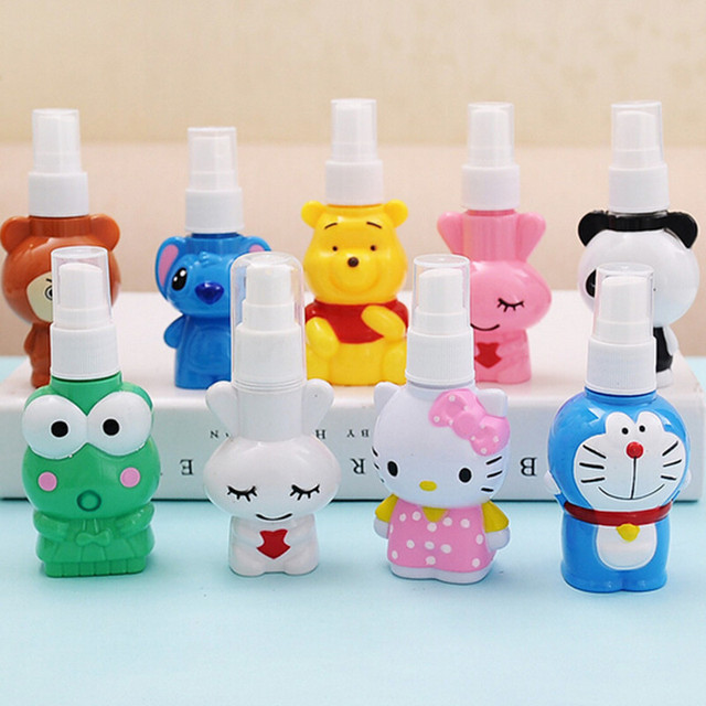 Mini Lovely Cartoon Bottle With Spray Cap Travel portable Packaging Bottles Person Care Holder Holiday