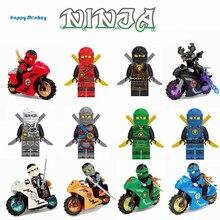 Горячие нинджали мотоцикл строительные блоки кирпичи игрушки совместимы с legoingly нинджагоед ниндзя для детей Подарки wy30