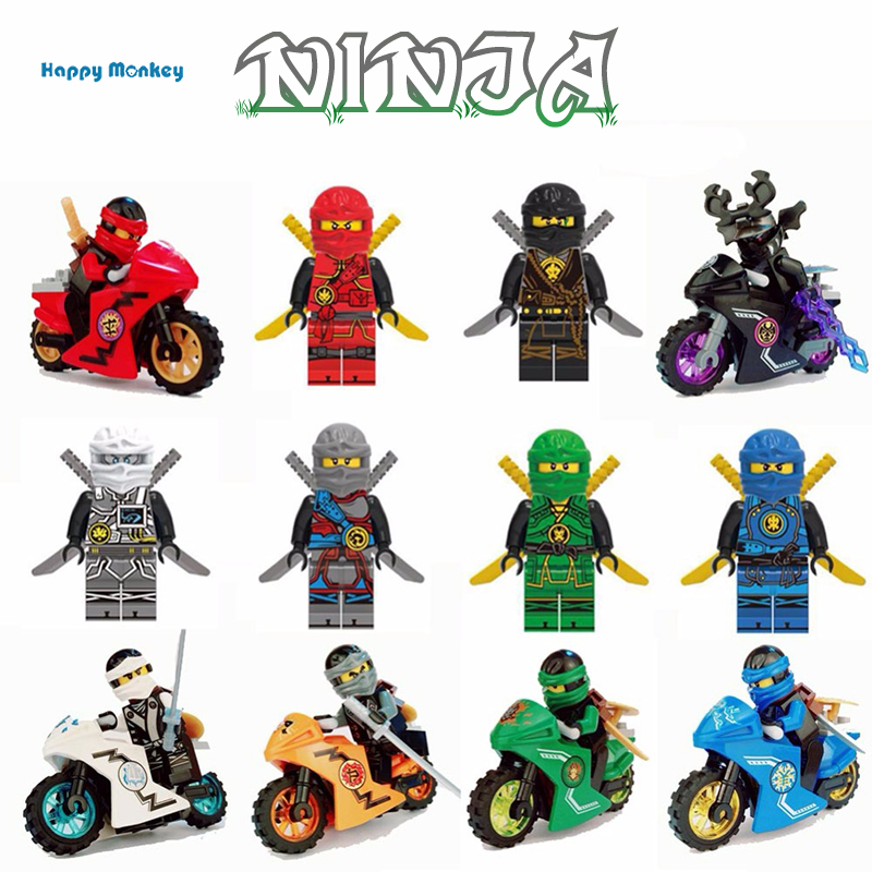 2018 Hot Ninjaly Motorcycle Building Blocks Bricks Toys Compatible Legoingly Ninjagoed Ninja For Kids Gifts Wy30