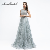 New Arrival Real Pictures Celebrity Inspired Dresses Sliver Gray Beading Sequined Evening Party Gown Pre Sale L5492