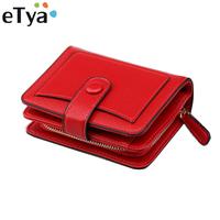 PU Leather Women   Wallets   Fashion Zipper Small Female Purse Girls Short Purse Card Holder High Quality Clutch   Wallet