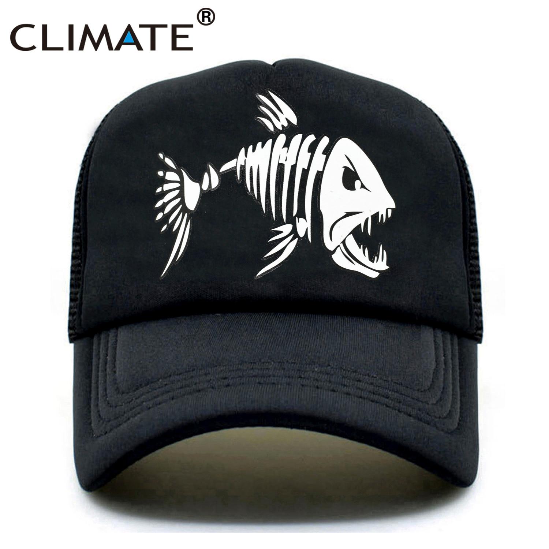 CLIMATE Men Fishbone Trucker   Caps   Fish bone Fishing Hip Hop   Baseball     Caps   Summer Cool Men Youth Snapback Mesh   Cap   Hat For Men
