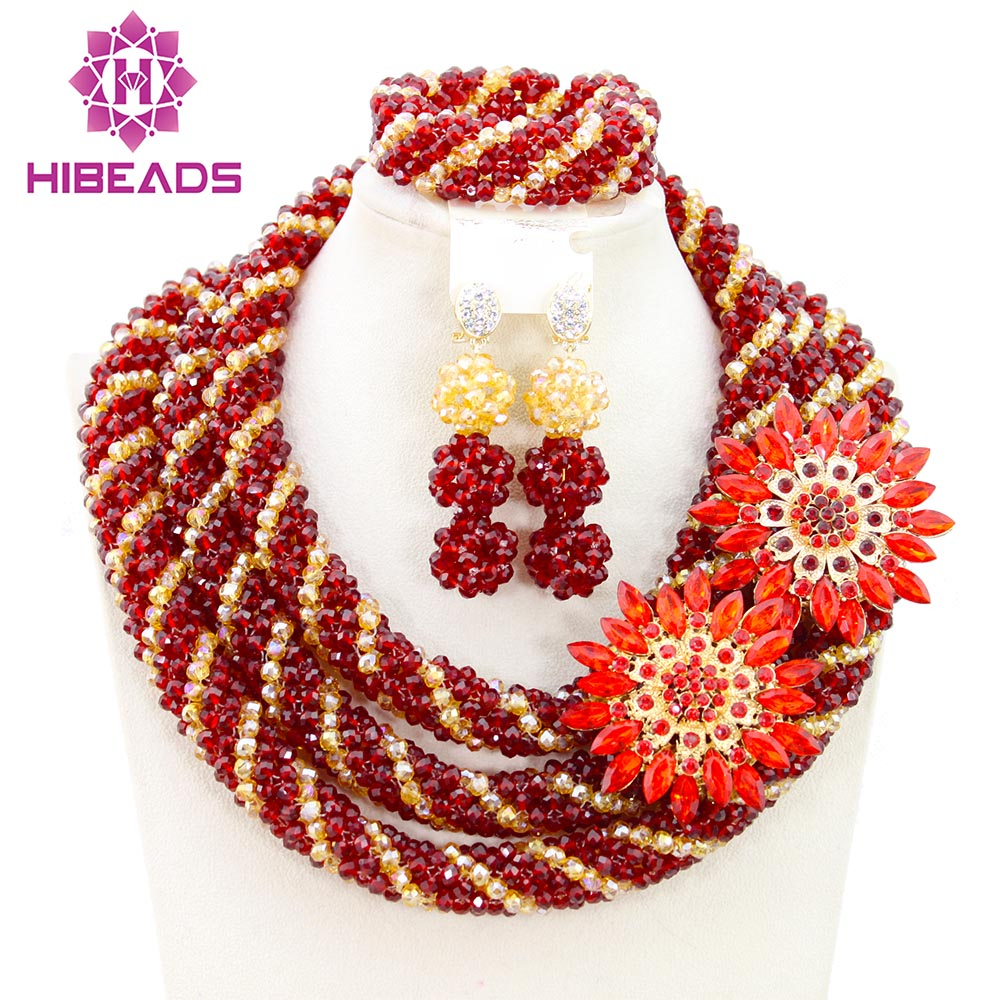 Fantastic Women Jewelry Set Beautiful African Jewelry Set Unique Design Free Shipping BN583 beautiful set