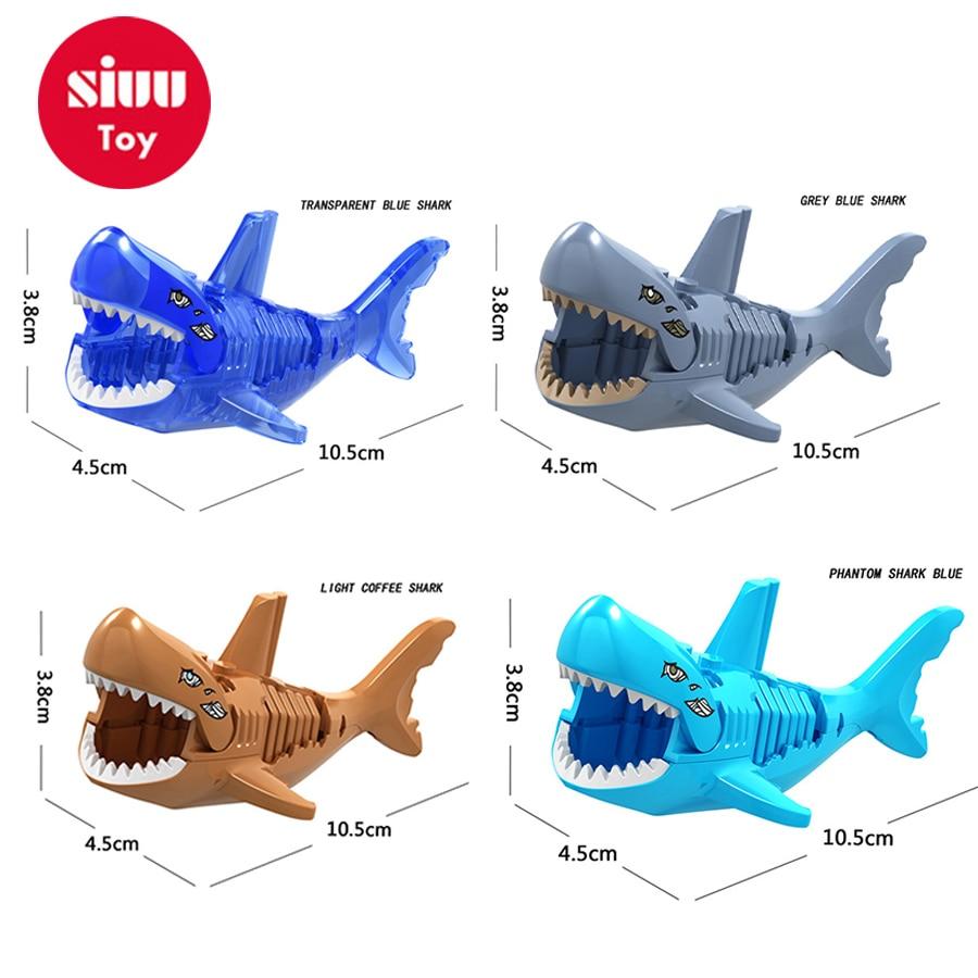 Blocks Model Building Just 1pcs Shark Blocks Shark Figure Creative Animal Building Blocks Compatible Legoingly Shark Toy Plastic Toys For Children