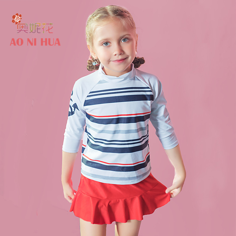 55ce9244b64 Jackfruit Green Kids Bikini Boutique Toddler Swimsuits: AONIHUA Designer 2017  New Colorful Striped Two Piece
