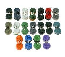 50 paires/29 couleurs pour ps4 contrôleur de jeu extensions de bouton analogiques silicone caoutchouc joystick extensions casquettes avec emballage