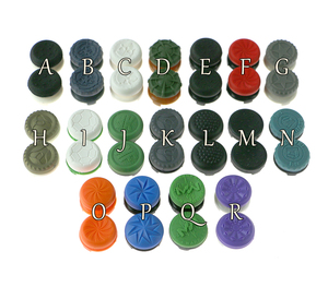 Image 1 - 50pairs/29 colors for ps4 game controller analog button extenders silicon rubber joystick  extender caps with package