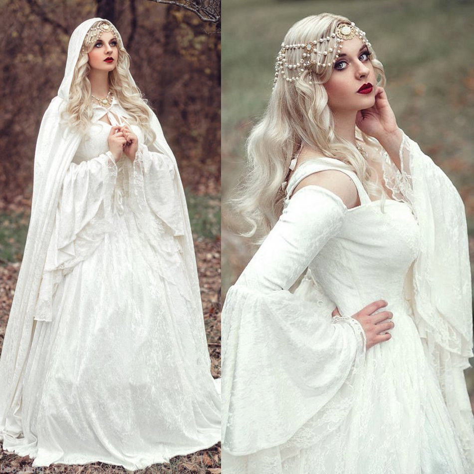 Wedding Celtic Wedding Dresses popular celtic wedding dresses buy cheap mzych04 vintage renaissance white dress medieval bell sleeves muslim bridal gown vestido de noiva