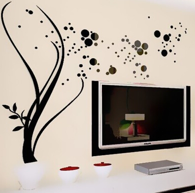 Hot sell 3D Crystal Acrylic Plant Vine and Star Stickers Acrylic Wall stickers for living room wall stickers home decoratiion