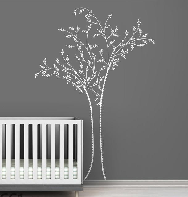 45 91 15 De Réduction Broderie Inspirée Chic Arbre Blanc Sticker Mural Pour Enfants Chambre Pépinière Chambre Décor à La Maison Vinyle