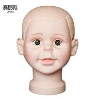 Пластиковый манекен для детей, манекен для маленьких детей, голова для маленьких кукол, магазин, окно, голова для кукол, шапка с очками, диспл...