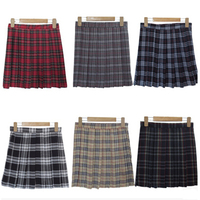 S 3XL Harajuku 2016 Women Fashion Summer High Waist Pleated Skirt Wind Cosplay Plaid Skirt Female